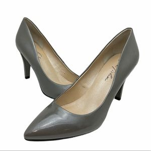 Marc Fisher Grey Patent Leather Heels